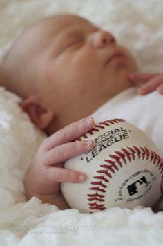 Baby baseball or football photo option