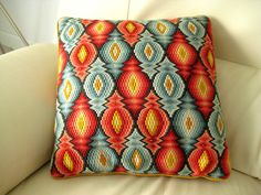 bargello pillow