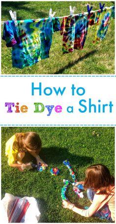 How to Tie Dye a Shirt -- Classic Summer Fun!!