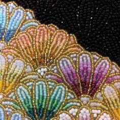 Glass seed bead embroidery - love the design