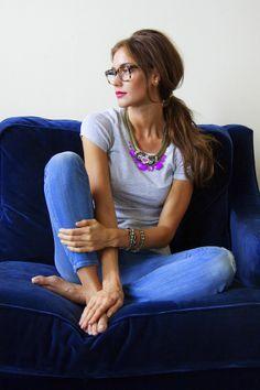 Quinn blue velvet sofa from Society Social. http://www.shopsocietysocial.com/products/the-quinn-sofa-1