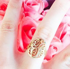 current obsession | monogram ring