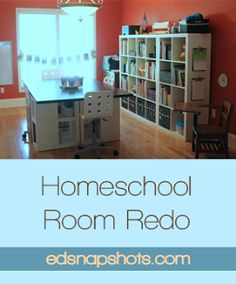 Homeschool Room Redo- Staples Desk Apprentice is amazing