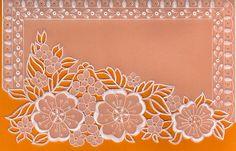 parchment, dentelle de papier fleurs pergamano orange