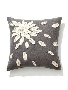 Felt Flower Applique Pillow