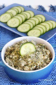 diary free, spinach artichoke dip, vegan dips, egg free, paleo spinach