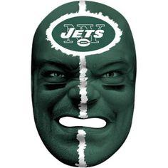Franklin Sports 6991F25 NFL New York Jets Fan Face Mask