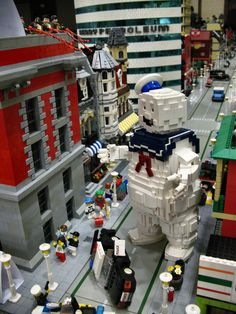 geek, lego sets, stuff, ghostbusters, ghostbust lego, legos, diorama, marshmallows, lego ghostbust