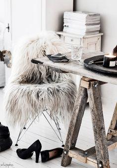 { Fur Chair }