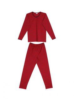 Pitkäsetti pyjamas (dark red, red) |Clothing, Women, Nightwear | Marimekko