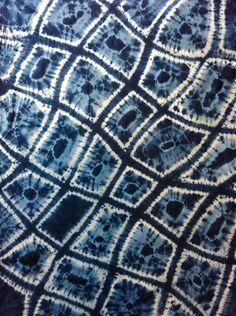 indigo shibori    I plan to try indigo dying when it warms up this year. silk, indigo, cotton, shibori, dye, patterns, batik, beauty, blues