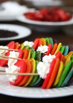 Rainbow Pancakes! Fun idea for a first day breakfast!