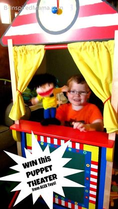 Check out 25 puppet crafts and enter to WIN a PUPPET THEATER from @ALEXtoys and B-InspiredMama.com!