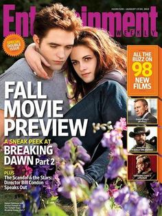 Bella and Edward On The Latest EW Cover For THE TWILIGHT SAGA: BREAKING DAWN #BD2