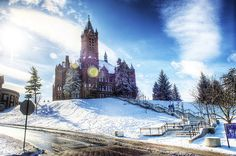 Crouse College in the winter