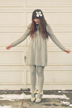 Grey Tights on Pinterest