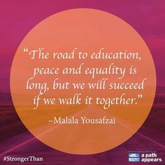Today is Malala Day, a chance to celebrate and advocate for girls' education. Malala Fund is working to provide access to education for girls in Nigeria, Pakistan, Kenya and Jordan. Show your support by telling everybody what you are #StrongerThan, and learn more at http://www.malala.org/