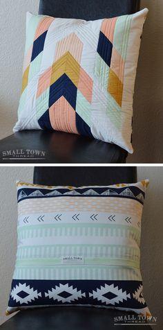 DIY tribal pillow pattern