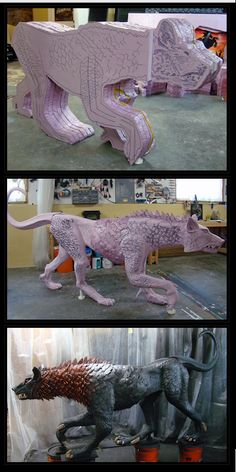 Did some one call for a Terror Dog.  The things you can make out of pink foam!