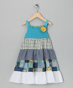 Love pretty much anything with patches! Take a look at this Turquoise Tiered Dress - Toddler & Girls by Red Currant Kids on #zulily today!