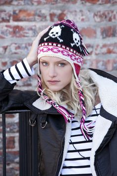 Ski Skulls  Skulls and chains make anything instantly cooler.  Stitch n' Bitch is probably my favorite supplier of patterns and tips. (Found at www.stitchnationy..., by Scarlet Taylor c/o Debbie Stoller).