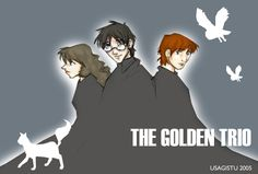 The Golden Trio by usagistu on deviantART