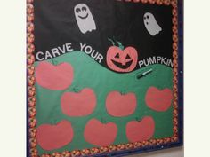Each resident can decorate their pumpkin with a sharpie. interactive bulletin board. RA CA