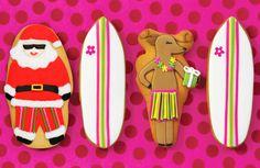 Surfs up with Santa & Reindeer treats. #surfingsanta #surfingreindeer