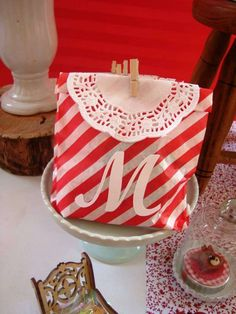 Little Red Riding Hood Birthday Party favors!  See more party planning ideas at CatchMyParty.com!