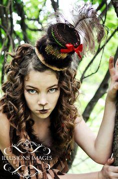 OOAK Tiny Top Hat - Wizard of Oz Cowardly Lion. $70.00, via Etsy.