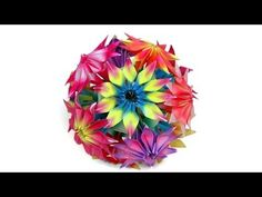 How to make origami Gloriosa flowers and kusudama - YouTube