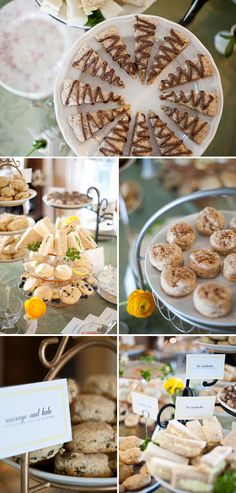 Delicious homemade treats at an elegant baby shower