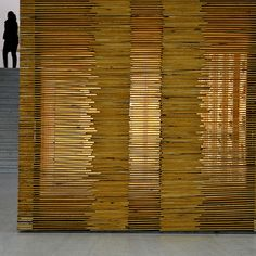 Wooden translucent wall
