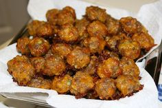 The BEST Sausage Cheese Balls!