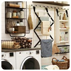 Basket-friendly shelving and stylish drying racks make a world of a difference in your laundry room. Check out these 10 ideas to organize your space!
