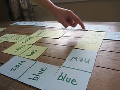 sight word domino game for kids
