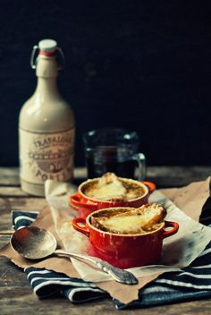 Portered French Onion Soup with Île-aux-Grues Cheddar