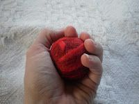DIY Natural Felted Wool Cat Toy