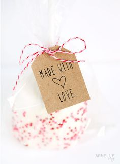 free made with  love gift tag