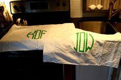 DIY Monogrammed Pillowcases