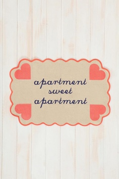 Plum & Bow Apartment Sweet Apartment Mat #urbanoutfitters