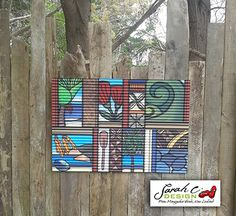 Outdoor art. Icons of New Zealand by Sarah C. On Corrugated Iron $790. Buy from sarahc.co.nz
