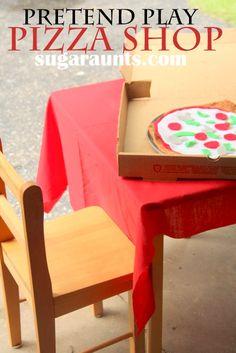 Pizza Shop Pretend Play. with DIY Felt Pizzas