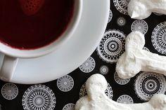 Blood-red hot chocolate and meringue bones!