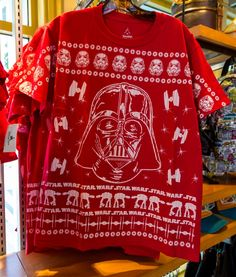 Star Wars Christmas Sweater tshirt -Walt Disney World 2014 Christmas