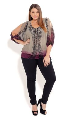 City Chic LACEY LADY TOP