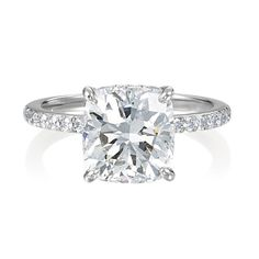 love the single diamond surrounded by a skinny band with lots of little diamonds.  PERFECTION!!