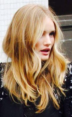 medium golden blonde with face framing highlights