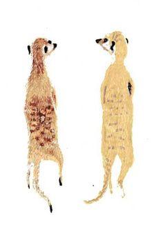 Meercats | Illustrator: Grace Lee | #creatures #illustration #meercats