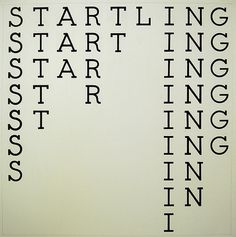 Startling - the only 9 word in the English language where you can remove a letter at a time and still spell a word.